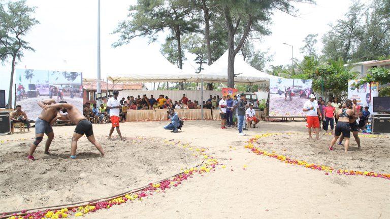 Shri. Brijbhushan Sharan Singh, MP (Lok Sabha) felicitated the Wrestling Champions of the First Beach Men & Women Wrestling National Championship by Wrestling Federation of India.