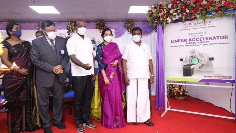TN Minister for Medical & Family Welfare Thiru MA. Subramanian inaugurates Elekta Infinity, the state of art Linear Accelerator Cancer Radiotherapy equipment at Dr Kamakshi Memorial Hospitals, Pallikaranai