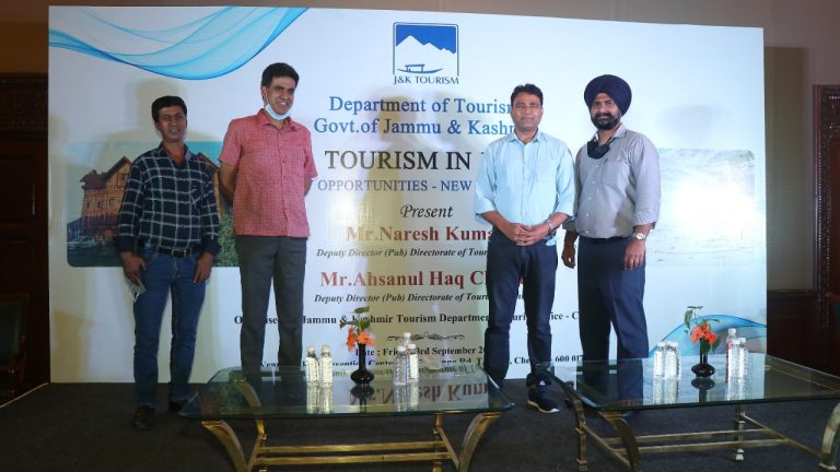 JK TOURISM DEPARTMENT HOLDS INTERACTIVE SESSIONS WITH LOCAL TOUR TRAVEL  OPERATORS, MEDIA OFFICERS BRIEF THEM ABOUT POST COVID-19 PREPARATIONS BY JK  ADMINISTRATION, DIVERSIFIED TOURISM PORTFOLIO
